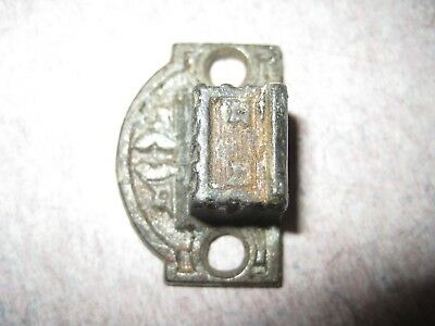 cabinet  latch door lock eastlake striker plate keeper  Hardware Vintage 1 5/16