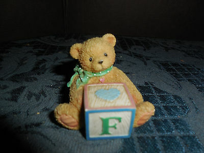 1995 Priscilla Hillman Lic. Enesco Group Bear Figurine With F  Euc  #2
