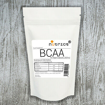 Nutrics® 665mg x 90 BCAA Branched Chain Amino Acids  Vegan Capsules not powder