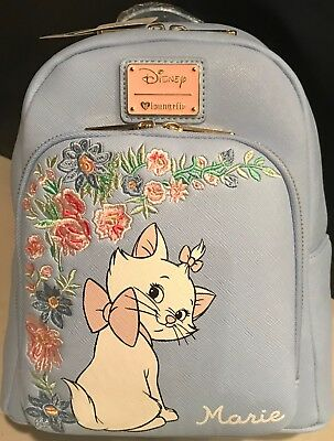 Loungefly Disney The Aristocats Marie Embroidered Floral Mini Backpack Periwinkl