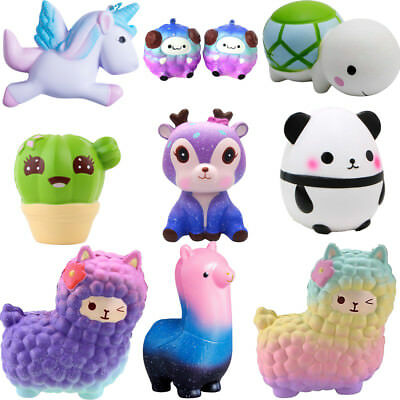 Jumbo Squishy Slow Rising Squeeze Toy Pressure Relief Kids Adult Animal Toy Lot