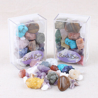 Natural Crystal Mixed Ore Specimen Reiki Healing Crystals Colorful Rock Ornament