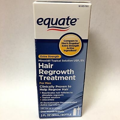 Lot 4 Equate Hair Regrowth 2 oz bottle Treatment Men's Extra Strength Exp 11/18