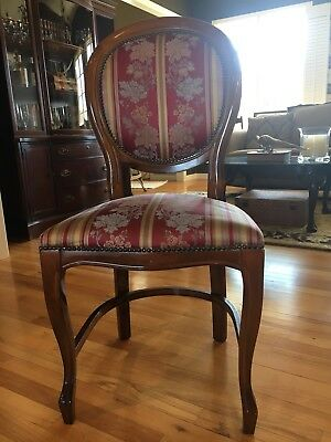 Set Of 5 Antique Aslams Mahogany Dining Chairs