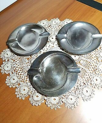 Vintage Mid Century Sanborns Mexico Sterling Silver Ashtray Lot of 3, RR