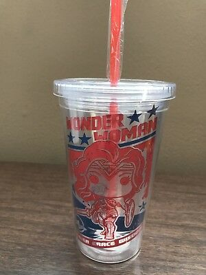 Wonder Woman Cup w/Straw Funko Legion Of Collectors Exclusive