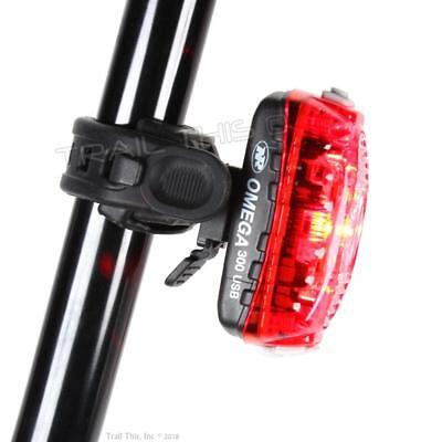 Niterider OMEGA 300 Lumens LED Bike Tail Light USB Rechargeable Daylight Visible