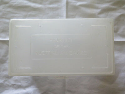 PLASTIC AUSTRALIAN BANKS BANK NOTE BOX FOR BANKNOTE DELIVERY to BRANCHES c1970