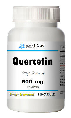 Quercetin 600mg Serving High Potency 120 Capsule USA SHIPPING GREAT DEAL