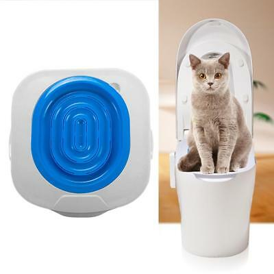 Cat Toilet Training Kit Litter Tray Box Trainer Pets Kitty Cleaning Potty Supply
