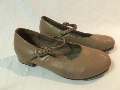 Energetiks Tan Leather Tap Shoes Girls Size 12