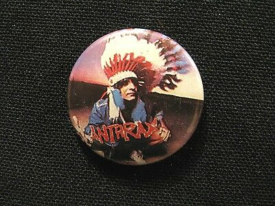Anthrax Vintage Button Badge Pin Not Patch Shirt Poster Lp Uk Import