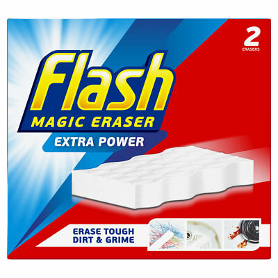 Flash Magic Eraser Extra Power Sponge, Erase Tough Dirt & Grime - Various Pack