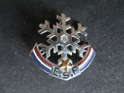 Insigne Broche Badge Flocon Neige Esf Ecole Ski France 1 Etoile Arthus Bertrand