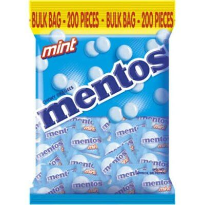 Mentos Mint Chewy Bulk Bag 540G Individually Wrapped 200 Pk