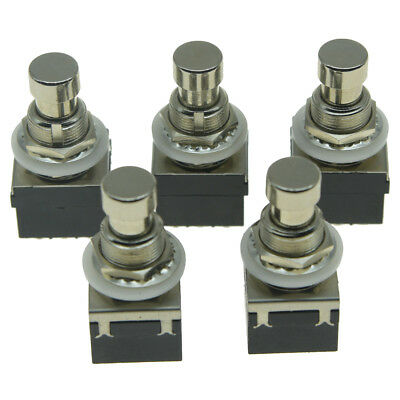 5pcs 9-Pin 3PDT Guitar Effects Pedal Box Stomp Foot Switch True Bypass Black