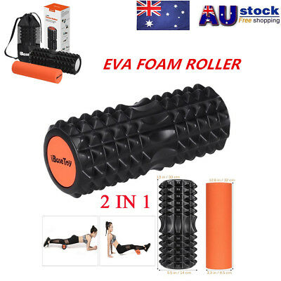 EVA Grid Foam Roller EPE Yoga Pilates Back Gym Exercise Hard Massage Training AU