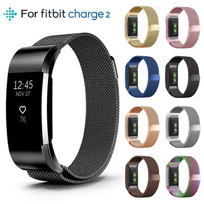 Für Fitbit Charge 2 Armband Edelstahl Ersatz Band Replacement Fitness Tracker S
