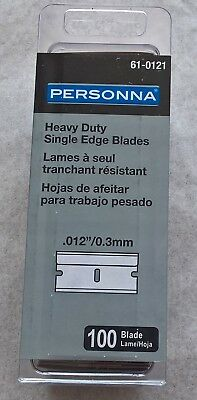 Personna - Heavy Duty Single Edge Blades - pack of 100