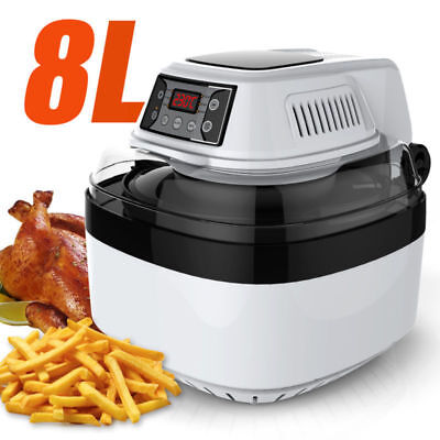 8L Heissluft Friteuse XXL-Touch Heißluftfritteuse Fritteusen Fritöse Heißluft DE