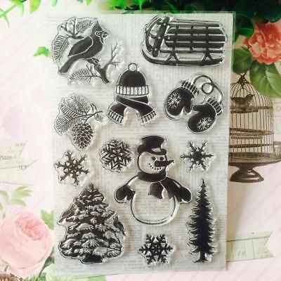 Winter Transparent Silicone Stamp Clear DIY Scrapbooking Craft Stamps