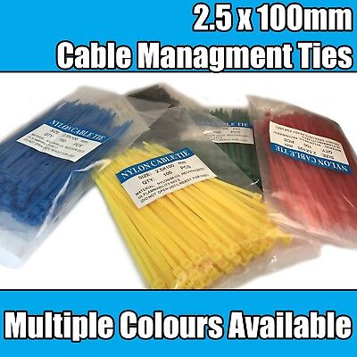 Nylon Plastic Cable Ties Zip Tie Wraps Cable Managment For Pc Computer Small