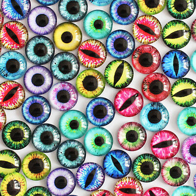 B2FE 20PCS/Bag Glass Cute Eyeballs Decal Doll Accessories DIY Handmade