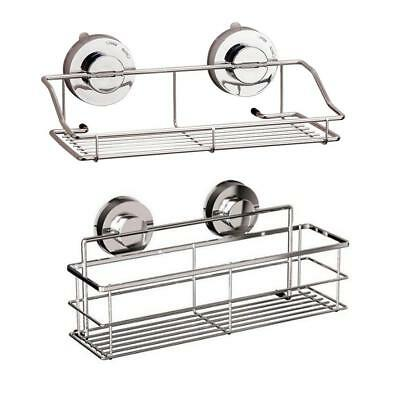 2-Tier Bathroom Shower Shelf Corner Toilet Organizer Bath Caddy Rack Storage