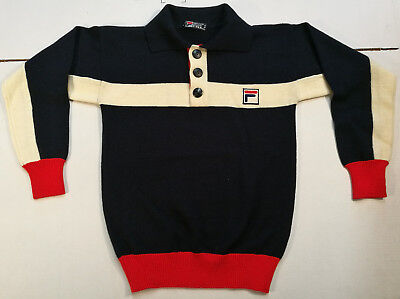 Fila Pullover Maglione Jersey Sweater Vintage Lana Wool Rare '80S Sports