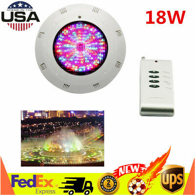18W 252 LED RGB Swimming Pool Light Spa Underwater Light Lamp w/Remote Control