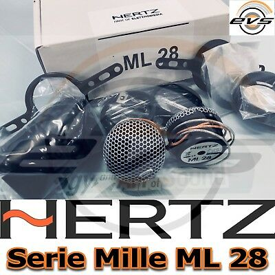 Hertz MILLE ML 28 Coppia Tweeter HI End 28 mm Teton Fiber 4ohm 180W NUOVI AFFARE