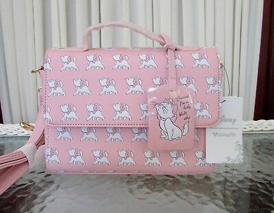 Disney Loungefly Marie Aristocats I'm a Lady Crossbody Purse Pink NWT