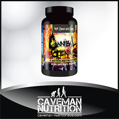 Chaos and Pain CANNIBAL GENIUS Non-Stim Nootropic / Alpha GPC / Ginkgo + More!!