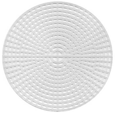 Pack of 5 - Round Plastic Canvas 11.25cm Embroidery Canvas Plastic mesh