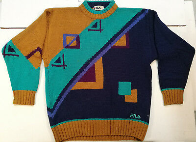 Fila Pullover Winter Maglione Jersey Sweater Vintage Lana Wool '80S