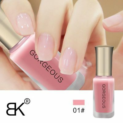 Nude Translucent Nail Polish Transparent Jelly Nail Lacquer Long Lasting Paint
