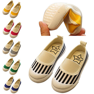 Boys Girls Canvas Boat Sneakers Kids Baby Unique Flat Nice Shoes Slip On Loafers