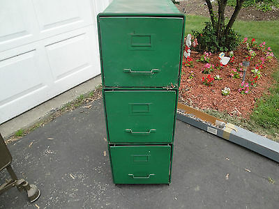 Antique/Vintage Industrial Shaw Walker Metal File Cabinet(s) - PICK UP ONLY