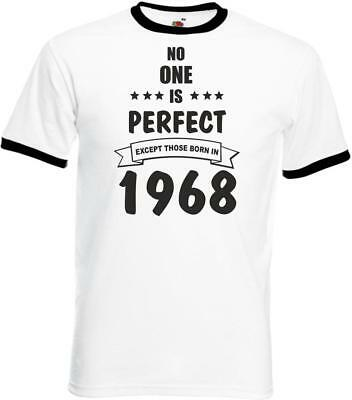 Mens Personalised Funny Ringer Birthday TShirt No One Is Perfect Gifts Presents