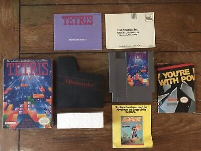 Tetris (Nintendo, NES, 1989) in Box with Manual & Sleeve Tested & Working - CIB