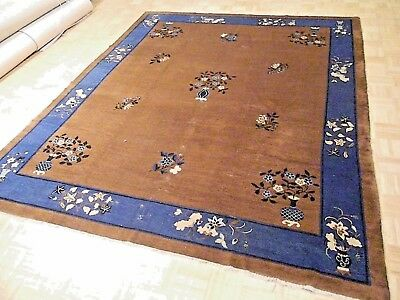 8x10 CHINESE RUG ANTIQUE 1900-1910 PEKIN AUTHENTIC HAND-MADE ORIENTAL RUG