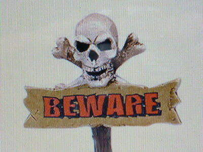 Dept 56 Beware The Boneyard Sign Snow Village Halloween Series #404760 Brand New