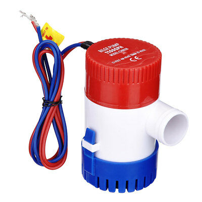 1100 GPH 12V Bilge Pump Electric Marine Submersible Water Pump for Boat Yacht