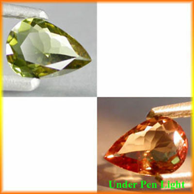 0.85Cts World Best Quality Gem - Natural Yellow To Red Color CHANGE GARNET #CG07
