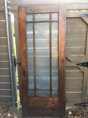 Vintage Craftsman Wood And Glass Front Door Antique Entry Door