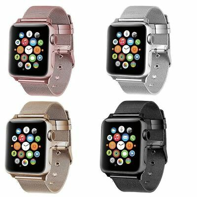 For Apple Watch Series 4 3 2 5 Stainless Steel Milanese Strap Band 44 42 40 38mm