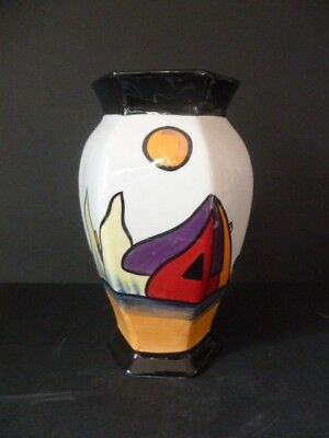 """Lorna Bailey Art Deco Colourful """"westport"""" Vase New Unused Signed Lovely"""