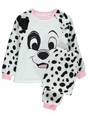 Girls 101 Dalmatians  Fleece Pyjamas Pyjama Set Kids PJs