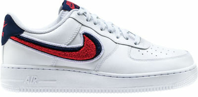 wholesale dealer 0b771 5d9af Nike Sneakers Uomo Ragazzo Air Force 1 07 Lv8 823511 White Bianco Red Blue  Nr 46