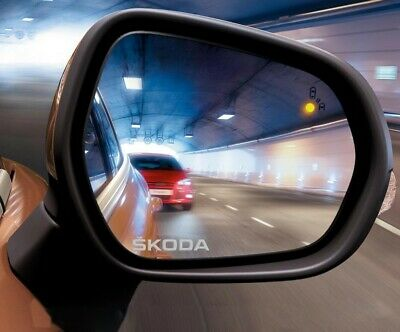 2x Skoda Car Door Wing Mirror Etched Effect Decal Stickers Adhesive Fabia